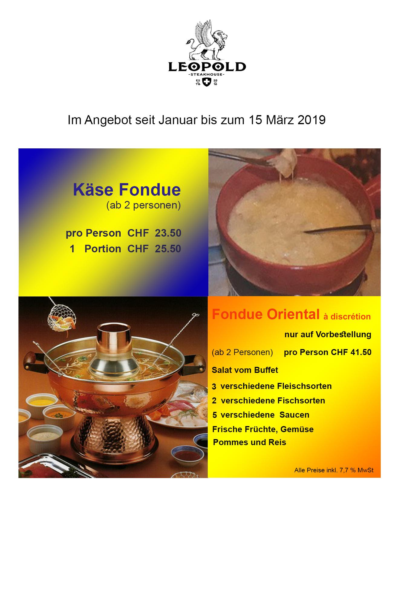 Kase fondue oriental